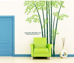 vinyl bamboo wall decal bamboo decal bamboo wall art stickers for bamboo wall decor  sc 1 st  Pinterest & Bamboo Shoots Wall Stencil by DeeSigns | DeeSigns Wall Stencils ...