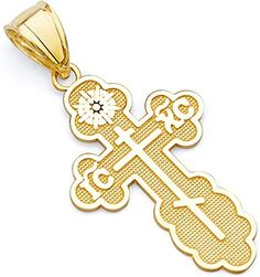 Jewels By Lux 14k White Gold 24.5X16.5 mm Polished Cross Pendant