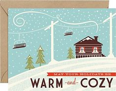 Warm & Cozy A2 Holiday Cards
