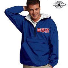 Beta Theta Pi Pullover Jacket - Charles River 9905 - TWILL