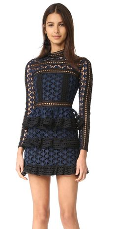 Self Portrait High Neck Star Lace Dress | SHOPBOP SAVE UP TO 25% Use Code: GOBIG16
