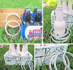 DIY Ring Toss Game - Great idea - I need to think of more lawn games to keep guests busy.