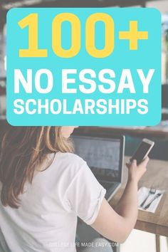 I'm SO glad I found this list of no essay scholarships because it's going to save me sooo much time. The applications that are so quick and easy that I applied right on my phone. High school students and college students qualify! #college #collegelife #student #scholarship #scholarships #collegetips #senior #highschool #collegebound #studentlife #collegeproblems