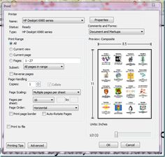 """open the pdf file click the print icon within Adobe Reader {top left} Find where it says """"Page Scaling"""" and set it to """"Multiple Pages per Sheet"""" Find where it says """"Pages per sheet"""" and set it to 16 Right before you print it should look like this… Printable Activities For Kids, Worksheets For Kids, Calendar Time, Future Jobs, Language Activities, Resume Writing, Interactive Notebooks, Teacher Pay Teachers, Mini Books"""