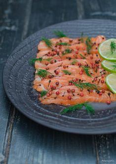 Gravlax de saumon.