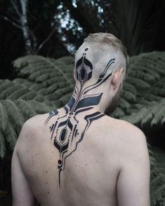 Blackwork Pattern Tattoo on Nape by Georgie Williams Nape Tattoo, Tattoo Hals, Tattoo On, Body Art Tattoos, Tribal Tattoos, Girl Tattoos, Tattoos For Guys, Sleeve Tattoos, Geometric Tattoos