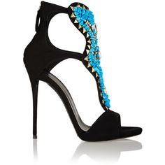 Embellished suede sandals - Giuseppe Zanotti