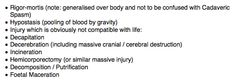 ROLE. Recognition Of Life Extinct.  These are the signs that you need not commence BLS / CPR