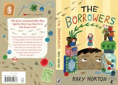 The Borrowers book cover. Illustrated by Shaw Davidson