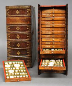 Philipp Daniel Lippert (1702-1785) owned a very famous dactyliotheca (or collection  of carved gems, seals, or their imprints), whose very appearance  demonstrates its close link to books: the imprints of the carved gems  are stored in wood cases that resemble books.
