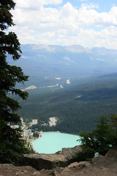 "The view of Chateau Lake Louise from the ""Little Beehive"" trail at Lake Louise Alberta CANADA. What a great hike!"