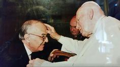Silvio Cavazzoli con Papa Giovanni Paolo II