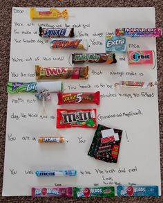 Bits Of Everything: Candy Bar Letter Tips for father's day. Cutest fathers day card from kids, I've ever seen Candy Bar Cards, Candy Signs, Birthday Message For Father, Birthday Messages, Birthday Candy, Birthday Gifts, Funny Birthday, 90th Birthday, Craft Gifts