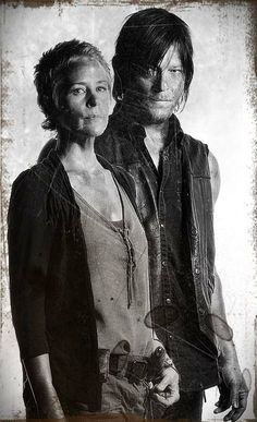 Was really hoping for a true romance here. Norman Reedus and Melissa McBride of The Walking Dead.