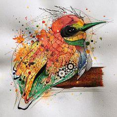 """Flyttfågel"", ""Bird of passage"". 34,5x34,5 cm, original."