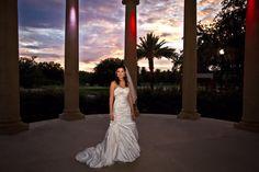 Bridal Portrait City Park sunset