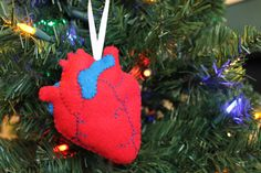 Anatomical heart ornament by TheRadScientist on Etsy, $12.00