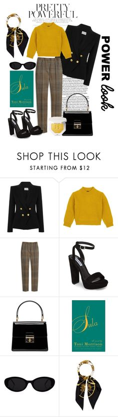 """My Goal Power Look"" by cheyenneshianne ❤ liked on Polyvore featuring Pierre Balmain, Comme Moi, Mulberry, Steve Madden, Dolce&Gabbana, Puma, Hermès, girlpower and powerlook"