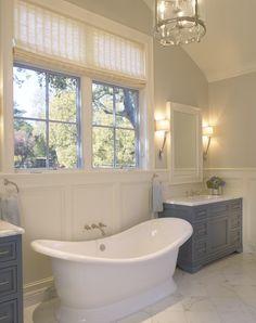 cabinet setup- bathtub in middle