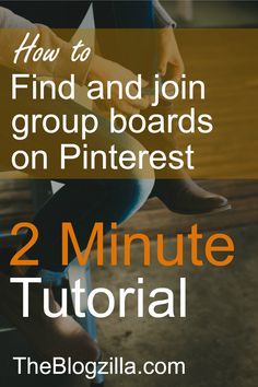 Pinterest screen shot in a tutorial showing you how to find and join group boards in Pinterest via TheBlogzilla.com