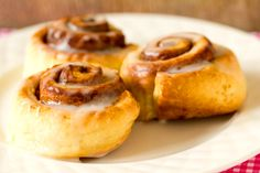Cinnamon Roll Biscuits...no rising...just roll, bake and eat.  my kind of cinnamon roll