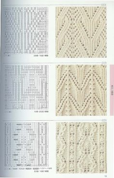 more lace patterns Lace Knitting Stitches, Crochet Stitches Patterns, Knitting Charts, Lace Patterns, Knitting Designs, Stitch Patterns, Ravelry, Album, Yandex Disk