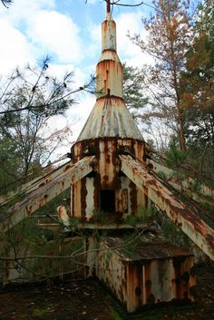 abandoned amusement park in the forest