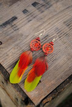 Parrot Feather Dreamcatchers