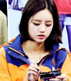 Hyeri Girl's Day Yummy Gummy Worms GIF