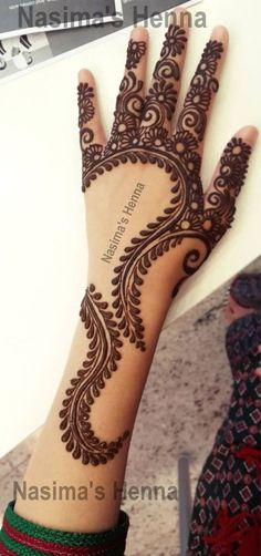 """Mehndi is one of the favorite term among women of all ages. In this post we have brought """"Pakistani Mehndi - Henna Designs . Henna Hand Designs, Mehndi Designs Finger, Mehndi Designs For Fingers, Mehndi Art Designs, Mehndi Patterns, Latest Mehndi Designs, Henna Tattoo Designs, Very Simple Mehndi Designs, Mehandi Designs Easy"""