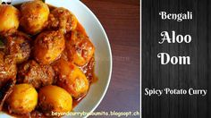 Bengali Aloor Dum Recipe | Alur Dom Bengali Style | আলুর দম | How to mak... Bangladeshi Food, Bengali Food, Vegetarian Cooking, Aloe, Curry, Vegetables, Ethnic Recipes, Desserts, How To Make