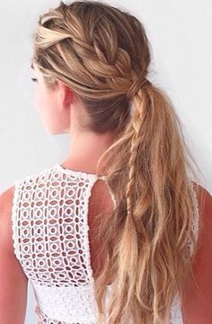 Braided boho hairstyle