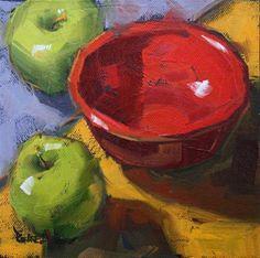 """Red Bowl"" - Original Fine Art for Sale - © Cathleen Rehfeld"