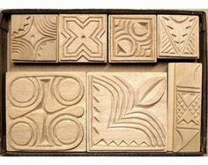 Oshiwa tallado madera impresión sello escenografías por Oshiwa