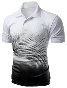 Men's Cool Max Fabric Sporty Design Printed Polo Tops BLACK XL * You can get additional details at the image link. Polo T Shirts, Sports Shirts, Custom T Shirt Printing, Printed Shirts, Collar Designs, Shirt Designs, Colorful Fashion, Sport Outfits, Print Design