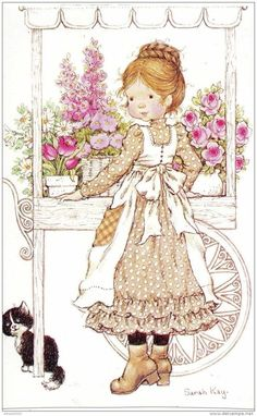 32 new ideas baby ilustration girl sarah kay Sarah Key, Sara Key Imagenes, Vintage Pictures, Cute Pictures, Mary May, Decoupage, Susan Wheeler, Creation Photo, Holly Hobbie