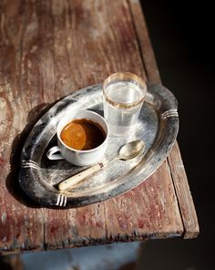 Classic Turkish coffee in Turkey, Greek coffee in Greece, Cypriot coffee in Cyprus. :-) Absolutely divine everywhere!