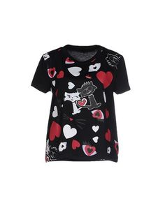 KARL LAGERFELD T-Shirt. #karllagerfeld #cloth #dress #top #skirt #pant #coat #jacket #jecket #beachwear #