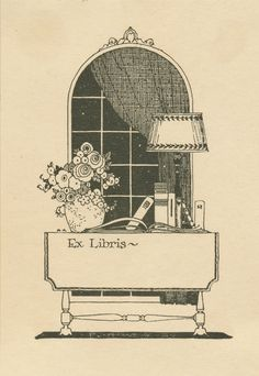 Here's another vintage bookplate I cleaned up so you can use.