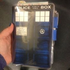 my #hobonichi planner with a TARDIS cover.