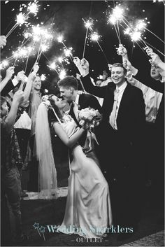 Wedding sparklers for your big day! Smokeless, safe for dresses and perfect for photographs!