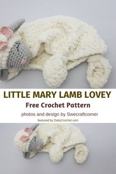 baby sleep Free Little Mary Lamb Lovey Pattern To Help Your Babies Sleep Better And Longer - Knit And Crochet Daily Crochet Baby Toys, Knit Or Crochet, Crochet Animals, Crochet Dolls, Baby Knitting, Free Crochet, Crochet Lovey Free Pattern, Lovey Blanket, Baby Blanket Crochet