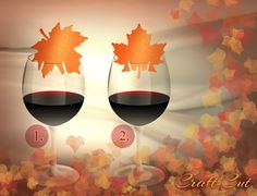 Wedding paper cut Autumn Maple Leaf Place Card 50 Wine by CraftCut, €15.00