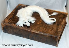 My Baby Falkor Made On March 2013 Fake Fur Glass