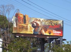 Guardians of the Galaxy: Mission Breakout Disney theme park billboard