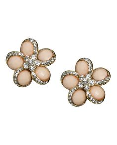 Faceted Blossom Button Earring - Teen Clothing by Wet Seal