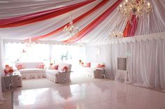 beautifully draped tent + white dance floor | Cameron & Kelly Studio #wedding