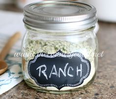 Homemade Ranch Seasoning dry powder mix recipe from The Country Cook. Control all the ingredients that go into your ranch dressing!