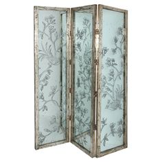 Showcasing a vine motif and hinged design, this eye-catching room divider brings classic appeal to your living room or master suite.
