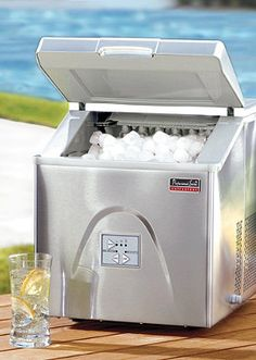 Don't forget the Portable Ice Maker from Frontgate for your outdoor parties this summer!